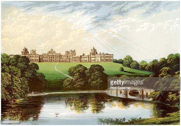 Blenheim Palace Oxfordshire home of the Duke of Marlborough c1880 One of Britain's greatest stately homes Blenheim was intended to be a gift from a...