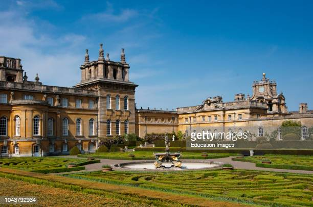 Blenheim Palace with Italian Garden, England.