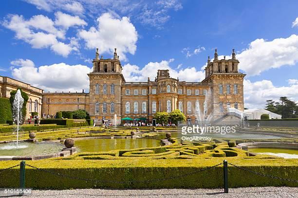 blenheim palace, woodstock, oxfordshire, england, united kingdom. - blenheim palace stock pictures, royalty-free photos & images