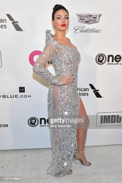 Bleona attends the 27th annual Elton John AIDS Foundation Academy Awards Viewing Party celebrating EJAF and the 91st Academy Awards on February 24...