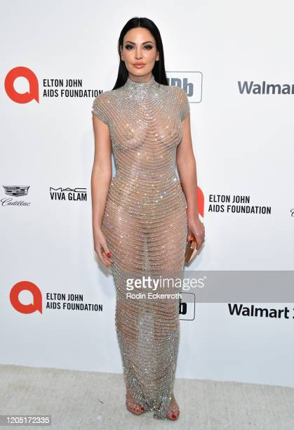 Bleona attends the 28th Annual Elton John AIDS Foundation Academy Awards Viewing Party Sponsored By IMDb And Neuro Drinks on February 09 2020 in West...