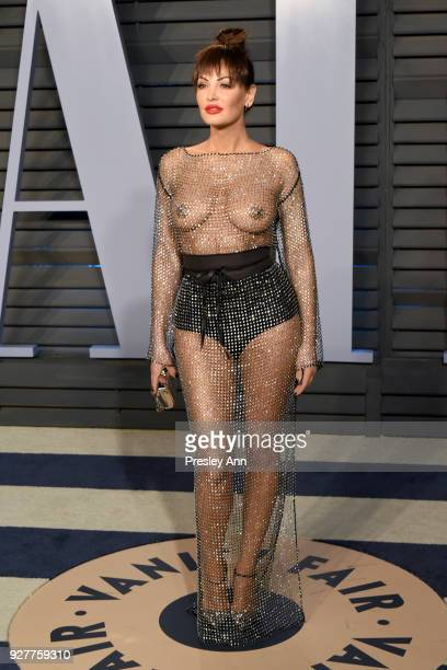 Bleona Qereti attends the 2018 Vanity Fair Oscar Party Hosted By Radhika Jones Arrivals at Wallis Annenberg Center for the Performing Arts on March 4...