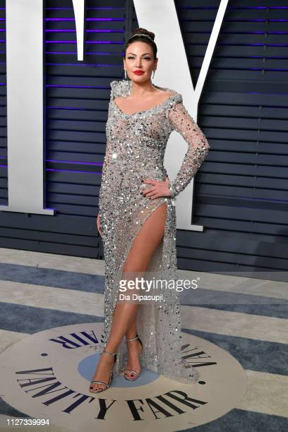 Bleona Qereti attends the 2019 Vanity Fair Oscar Party hosted by Radhika Jones at Wallis Annenberg Center for the Performing Arts on February 24 2019...