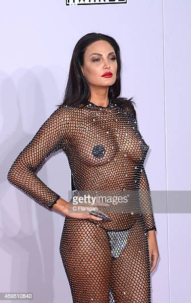 Bleona Qereti attends the 42nd Annual American Music Awards at Nokia Theatre LA Live on November 23 2014 in Los Angeles California