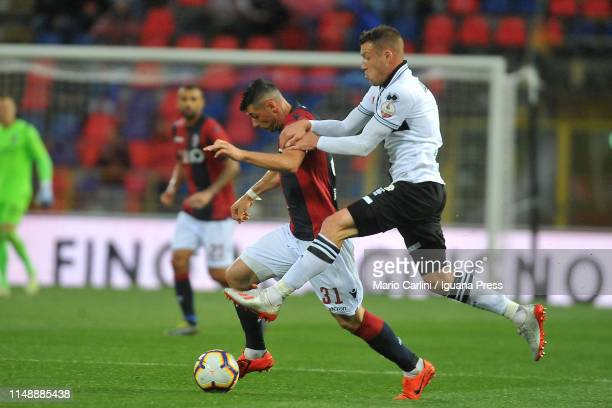 Blerim Dzemaili of Bologna FC in action during the Serie A match between Bologna FC and Parma Calcio at Stadio Renato Dall'Ara on May 13 2019 in...