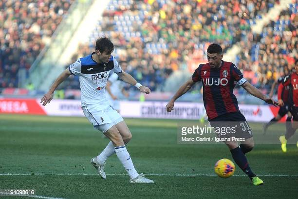 Blerim Dzemaili of Bologna FC in action during the Serie A match between Bologna FC and Atalanta BC at Stadio Renato Dall'Ara on December 15 2019 in...