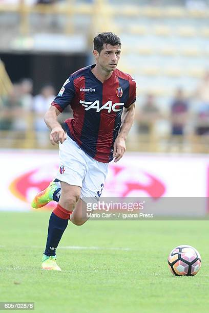 Blerim Dzemaili of Bologna FC in action during the Serie a match between Bologna FC and Cagliari Calcio at Stadio Renato Dall'Ara on September 11...