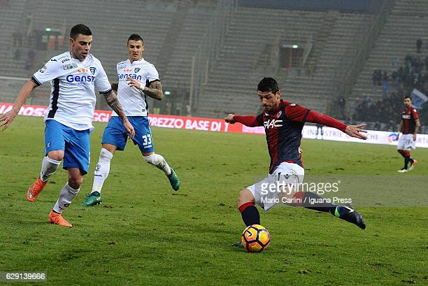 Blerim Dzemaili of Bologna FC in action during the Serie A match between Bologna FC and Empoli FC at Stadio Renato Dall'Ara on December 11 2016 in...