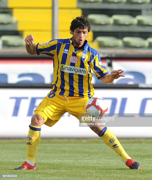 Blerim Dzemaili of Parma FC in action during the Serie A match between Parma FC and AC Siena at Stadio Ennio Tardini on October 18 2009 in Parma Italy