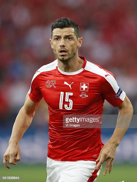 Blerim Dzemaili of Switzerland during the UEFA EURO 2016 Group A group stage match between Switzerland and France at the Stade PierreMauroy on june...