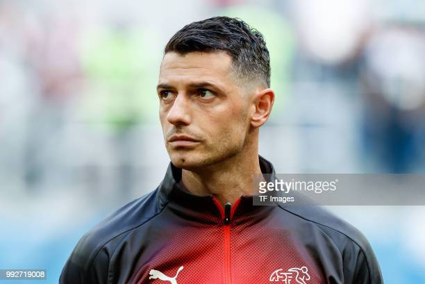 Blerim Dzemaili of Switzerland looks on prior to the 2018 FIFA World Cup Russia Round of 16 match between Sweden and Switzerland at Saint Petersburg...