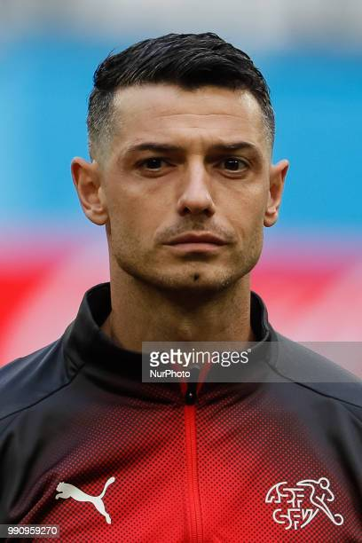 Blerim Dzemaili of Switzerland national team during the 2018 FIFA World Cup Russia Round of 16 match between Sweden and Switzerland on July 3 2018 at...