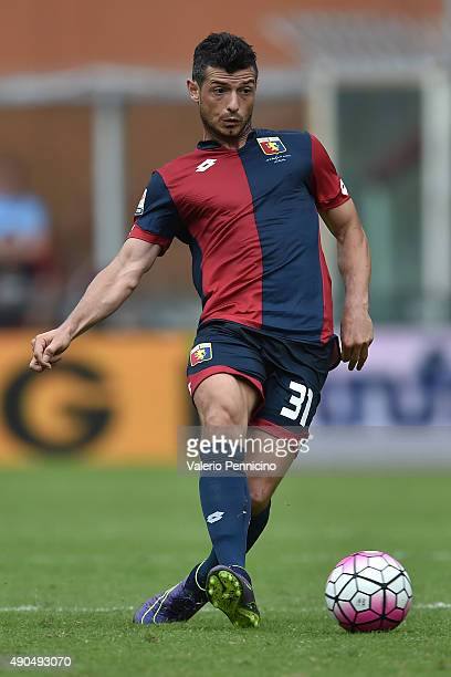 Blerin Dzemaili of Genoa CFC in action during the Serie A match between Genoa CFC and AC Milan at Stadio Luigi Ferraris on September 27 2015 in Genoa...