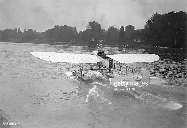 Bleriot Louis Engineer Aviator F *01071872 Bleriot in his new type of aircraft the Hydro Bleriot 1913 Photographer MRol Vintage property of ullstein...