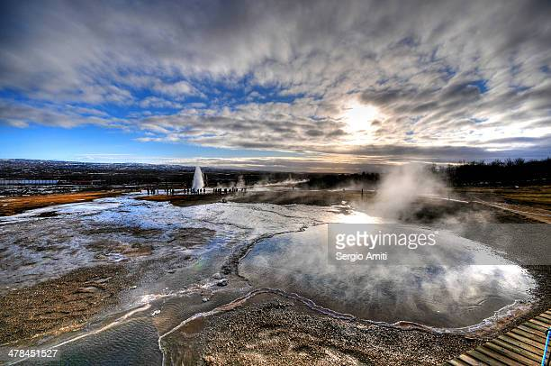 CONTENT] Blesi is a hot spring pool at the Geysir Area in Iceland It's just a few metres away from the two geysers Strokkur and the Great Geyser The...