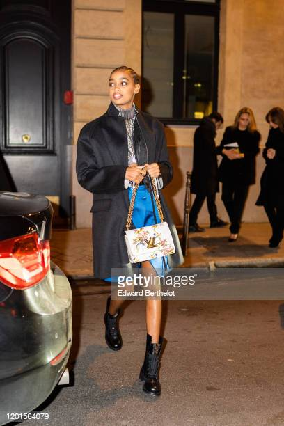 Blesnya Minher arrives at Sidaction Gala Dinner 2020 At Pavillon Cambon on January 23 2020 in Paris France