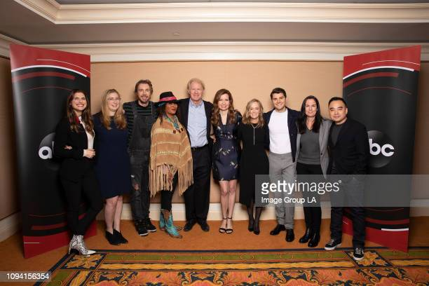 TOUR Bless This Mess Session The cast and executive producers of Walt Disney Television via Getty Images's Bless This Mess addressed the press at the...