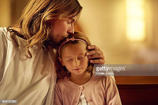 blessed are the pure of heart - jesus christ photos et images de collection