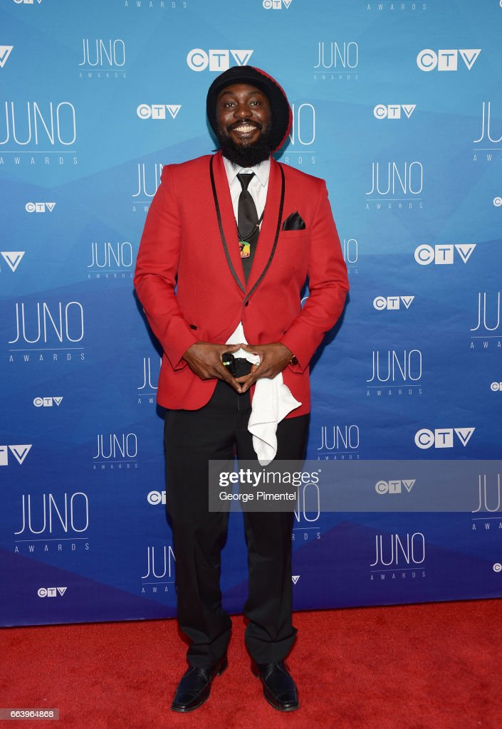 Blessed arrives at the 2017 Juno Awards at Canadian Tire Centre on April 2, 2017 in Ottawa, Canada.