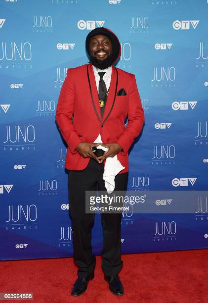 Blessed arrives at the 2017 Juno Awards at Canadian Tire Centre on April 2 2017 in Ottawa Canada