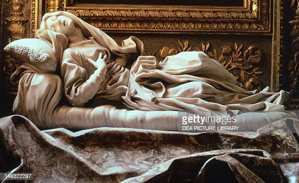 Blessed Ludovica Albertoni by Gian Lorenzo Bernini marble height 90 cm Church of San Francesco a Ripa in Rome Lazio