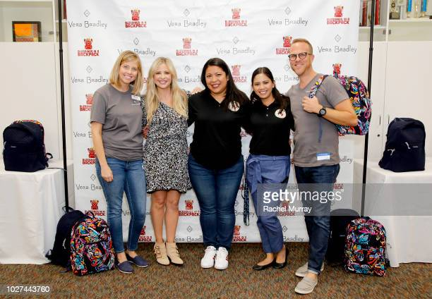 Blessings in a Backpack Chief Marketing Officer Nikki Grizzle Sarah Michelle Gellar Vista Charter Middle School Principal Karen Amaya Teacher...