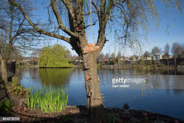 Blessington Street Park on 2nd April 2017 in Dublin, Republic of Ireland. Previosuly a drinking reservoir which operated from 1810 until the 1970s,...
