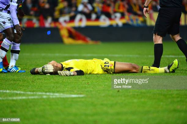 Blessure Alphonse AREOLA Lens / Istres 18e journee Ligue 2 Photo Dave Winter / Icon Sport