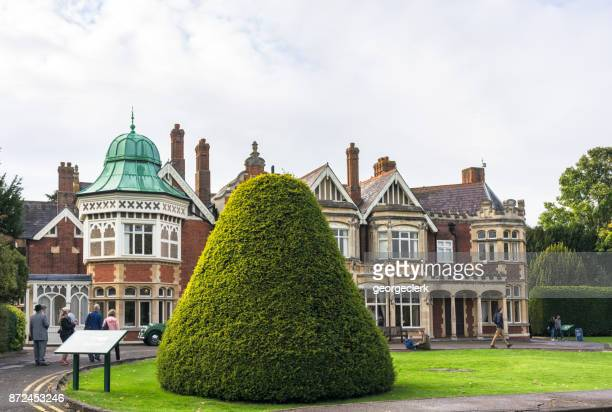 bletchley park mansion - alan turing stock pictures, royalty-free photos & images