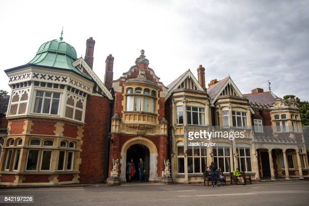 Bletchley Park Mansion stands during an annual reunion event of World War II veterans who worked at Bletchley Park and its outstations on September 3...