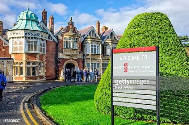 bletchley park tour - alan turing stock pictures, royalty-free photos & images