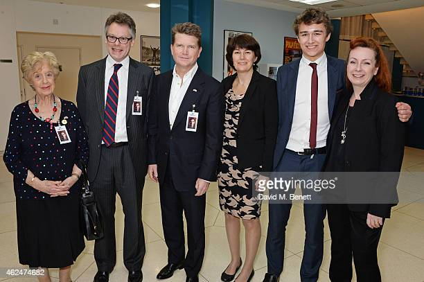 Bletchley Park Veteran Ruth Bourne Sir Dermot Turing American Ambassador Matthew Barzun Rachel Barnes neice of Alan Turing son Tom Barnes and costume...