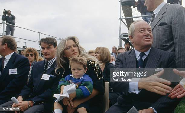 """""""Bleu blanc rouge"""" celebration of the French far rightwing and nationalist politician founder and President of the National Front JeanMarie Le Pen..."""