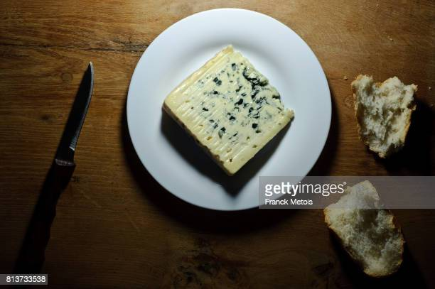 bleu d'auvergne cheese - auvergne stock pictures, royalty-free photos & images