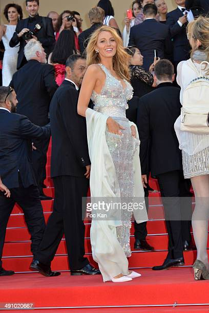 Bliake Lively attends the 'Mr Turner' premiere during the 67th Annual Cannes Film Festival on May 15 2014 in Cannes France
