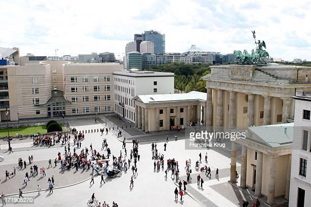 Blick Auf Das Brandenburger Tor In Berlin