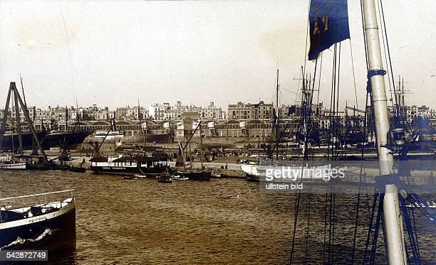 Blick auf den Hafen Postkarte ohne Jahr