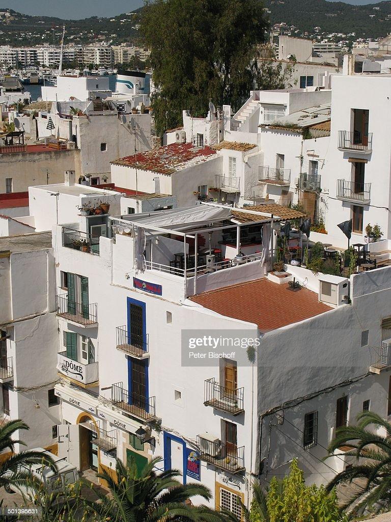 Blick auf Insel Ibiza, Ibiza-Stadt, Balearen, Spanien, Europa, Häuser, Reise, AS, DIG; P.-Nr.: 663/2010, 16.05.2010; Foto: P.Bischoff; Jegliche Foto-N : News Photo