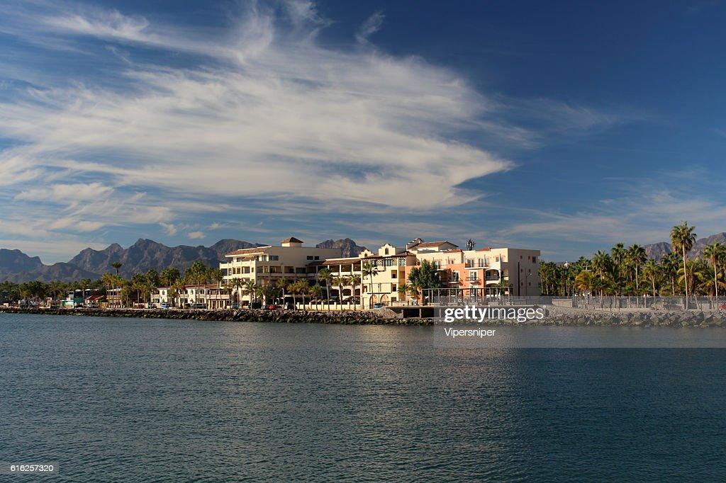 Blick auf Küste von Loreto : Foto de stock