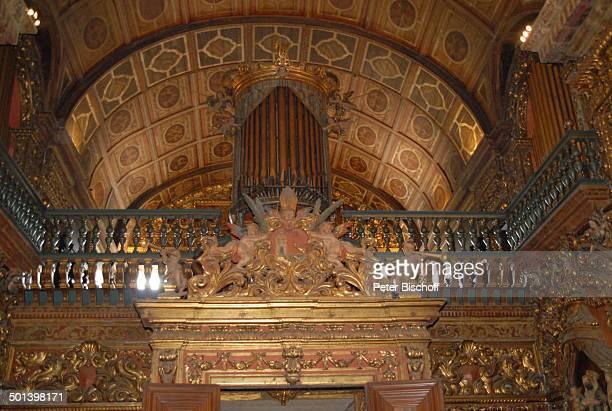 Blick auf Orgel Kirche Sankt Benedikt Zentrum Rio de Janeiro Brasilien Südamerika vergoldet gold Blattgold Reise NB DIG ProdNr 329/2007