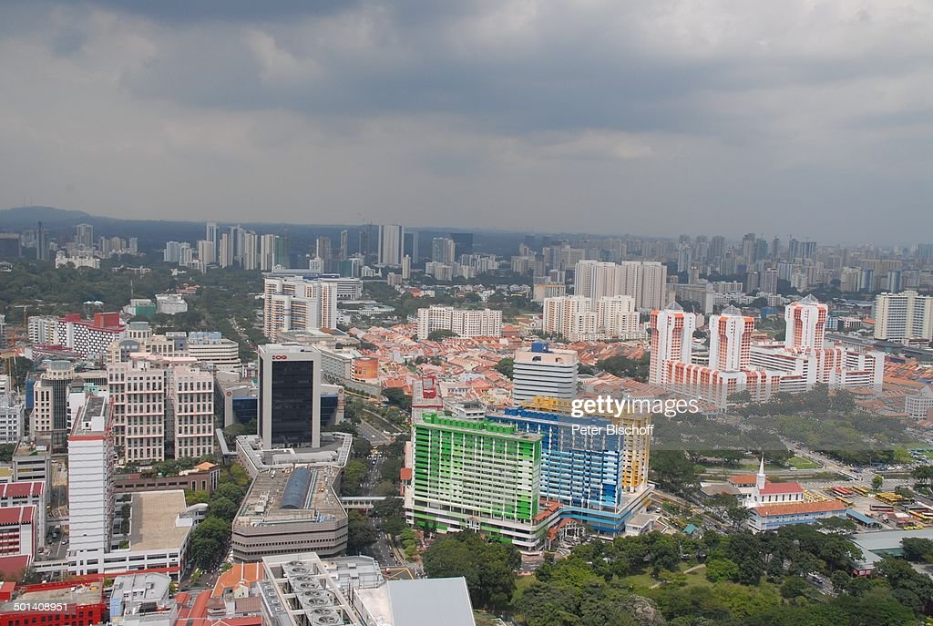 Blick aus Ballon auf die Stadt, Singapur, Asien, Häuser, Reise, BB, DIG; P.-Nr.: 180 : News Photo