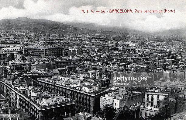 Blick über Barcelona Postkarte ohne Jahr