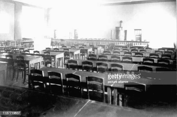 Blick in den Sitzungssaal des Schwurgerichts in der Polizeiunterkunft Tannenstraße zum Prozess gegen Peter Kürten Am 22 April 1931 wurde Peter Kürten...