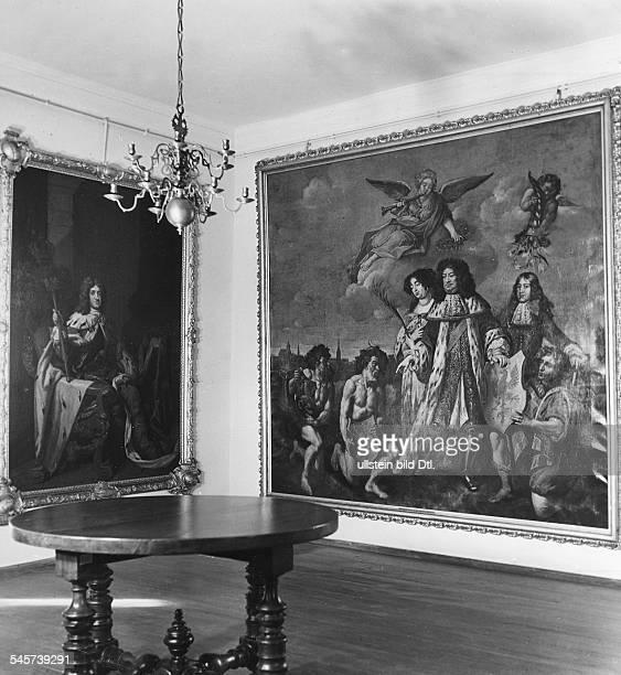 Blick in einen der Räume:Huldigung der pommerschen Stämmevor dem Grossen Kurfürsten in Stettin- Aufnahme 1935