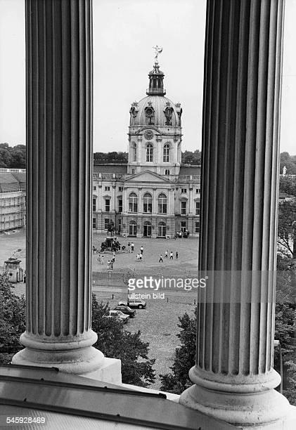 Blick vom Dach des Ägyptischen Museumsauf das Schloss 1985