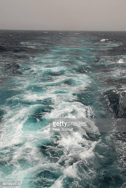 Blick vom Heck vom Kreuzfahrtschiff MS Astoria auf hoher See bei Sturm Asien Schiff Meer Wasser Reise BB DIG PNr 603/2008