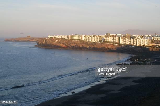 Blick vom Hotel Papagayo Arena auf Strand Papagayo KanarenInsel Lanzarote Spanien Europa Sonnenuntergang Reise BB DIG PNr 382/2005