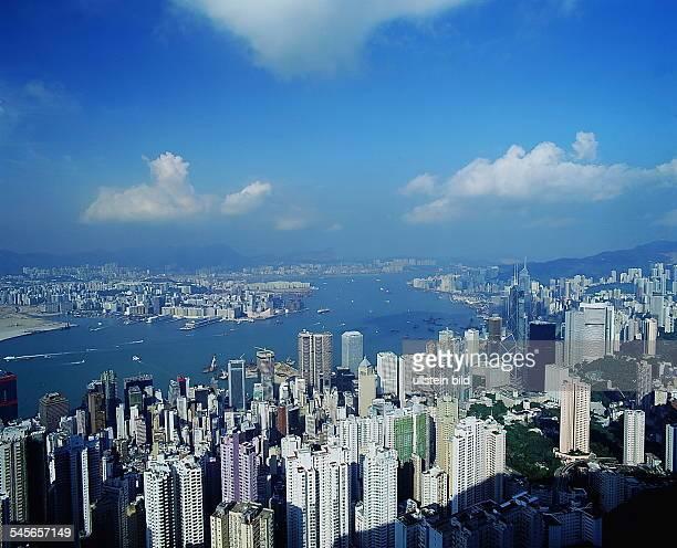 Blick vom Peak auf Hongkong Island 1995