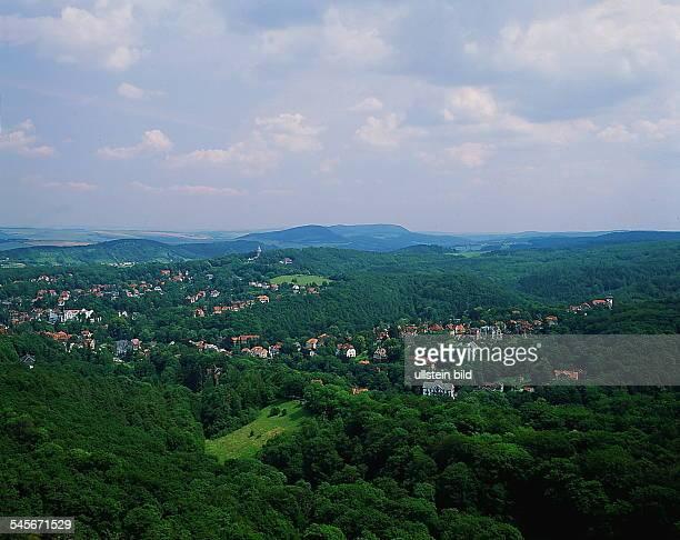 Blick von der Wartburg auf Eisenach- 1992