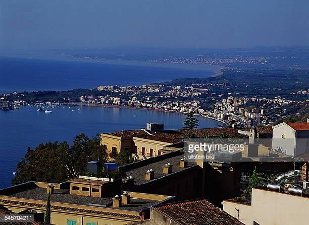 Blick von Taormina nach Naxos 1995